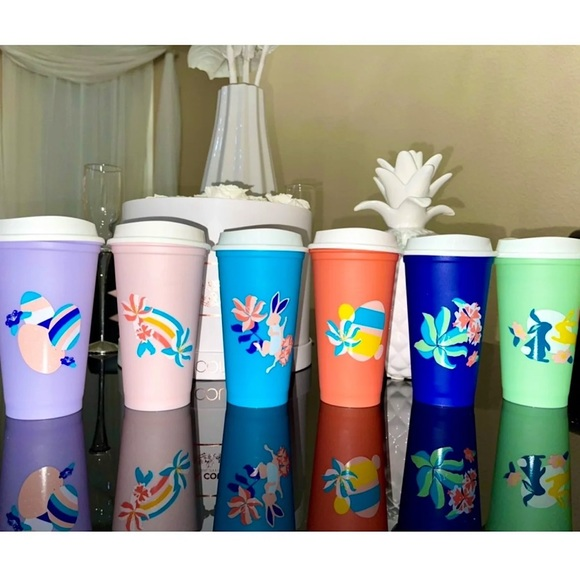 💗💛💜Starbucks Easter Spring Box of 6 Hot Cups🐰